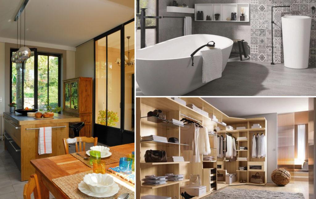 Photo Réalisation Cuisine rustique moderne, salle de bain design épurée et dressing optimisé par Bulles Cuisines Lyon
