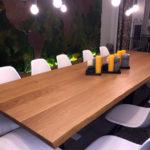 Réalisation Bulles Cuisines Lyon (69) Table bois