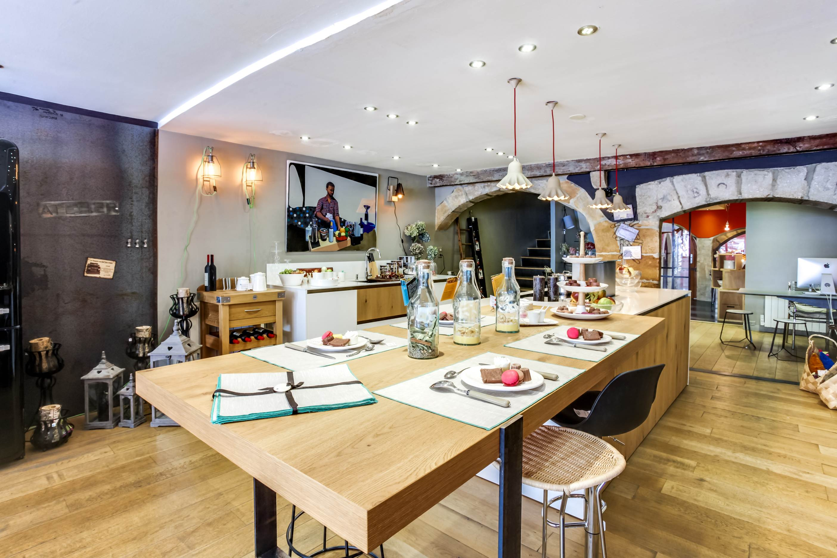 Ilot Central Et Table un vent de fraîcheur chez bulles cuisine ! - bulles cuisines